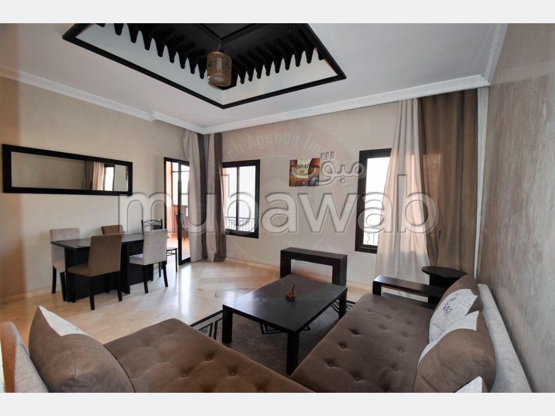 شقة جميلة للكراء بمراكش. 2 غرف رائعة. مفروشة.