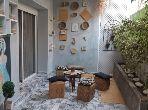 شقة رائعة للبيع بأكادير. 4 قطع. شرفة جميلة وحديقة.