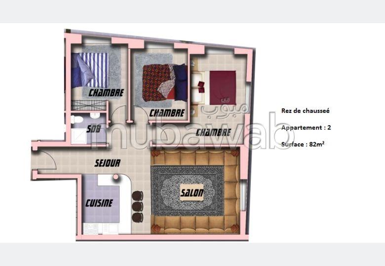 Appartement de 82m² en vente Ali Building