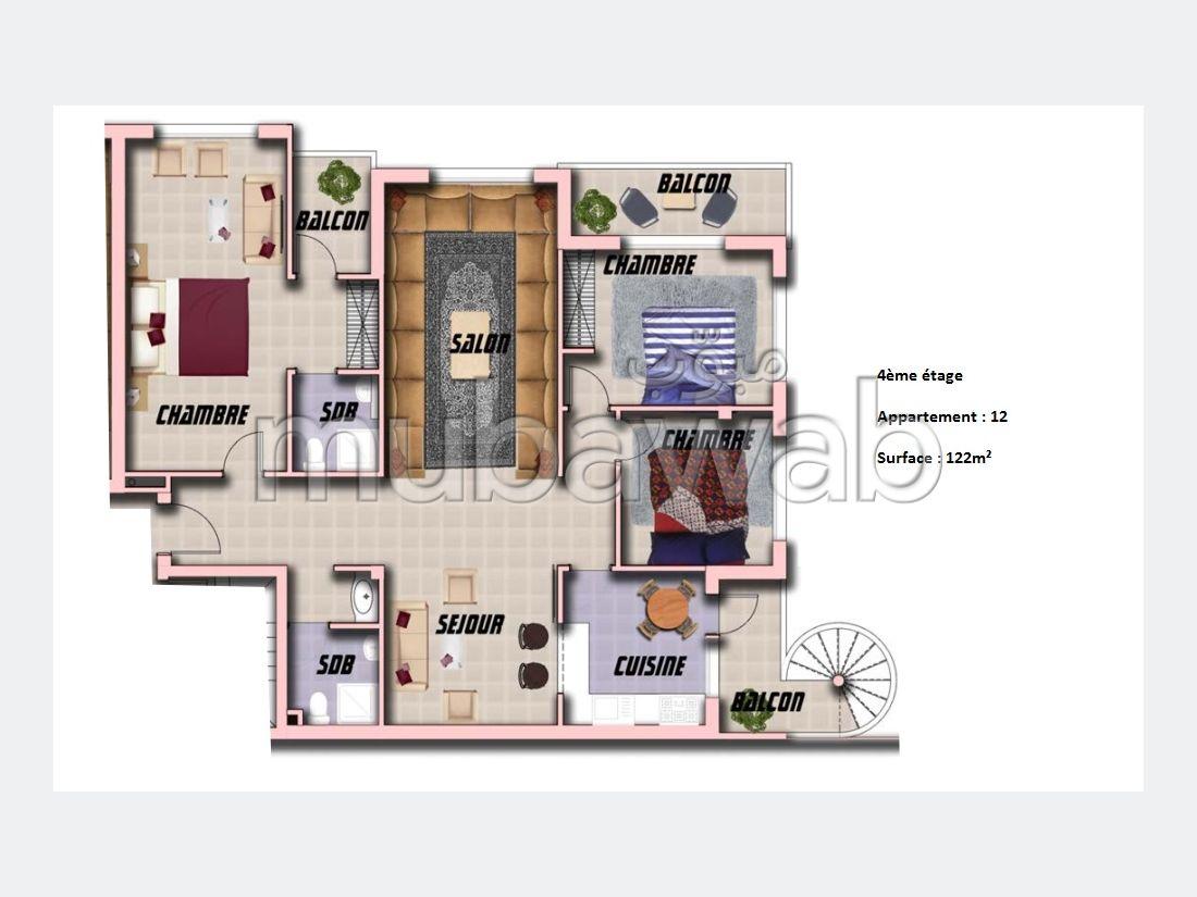Appartement de 122m² en vente Ali Building