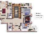 بيع شقة بطنجة. المساحة الكلية 122 م².