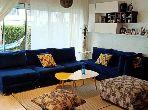À louer un appartement en rez de jardin 2ch meublé à Dar Bouazza