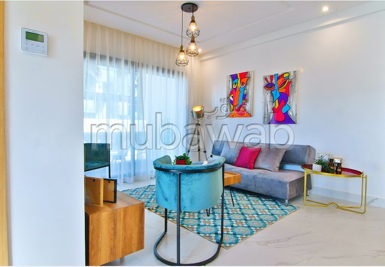 شقة رائعة للبيع بالدارالبيضاء. المساحة الإجمالية 59.0 م². مطبخ مجهز.