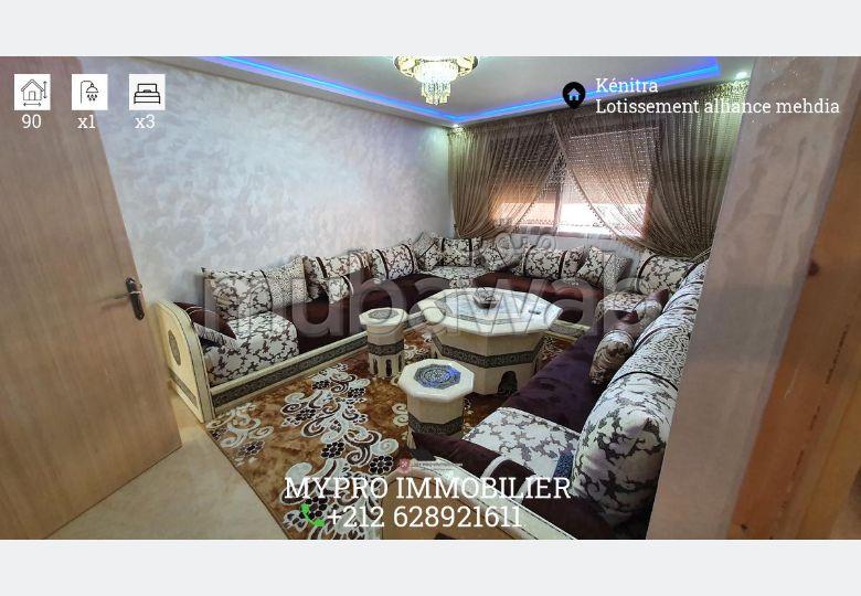 شقة جميلة للبيع بالمهدية. 4 قطع كبيرة. مطبخ مجهز.