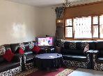 Appartement de vacances à louer à Rabat. 5 pièces confortables. Porte blindée, salon marocain