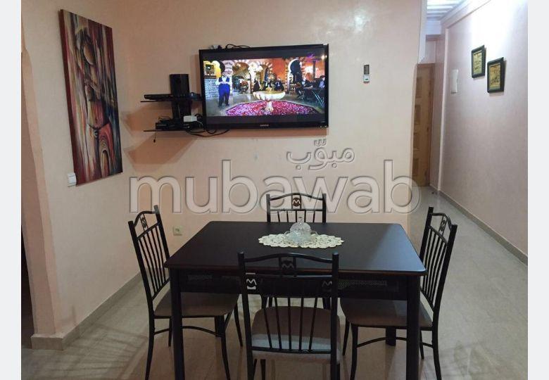 شقة للإيجار بمراكش. المساحة الكلية 80.0 م². مفروشة.