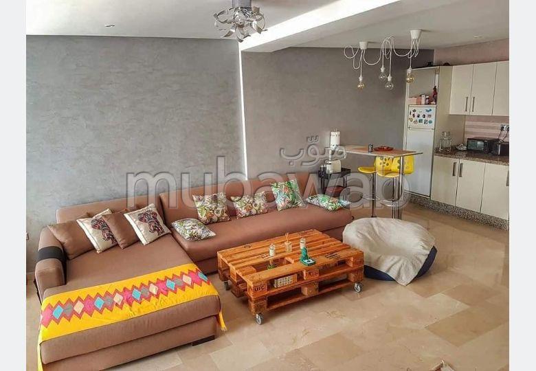 Location un cosy Studio Loft meublé à Anfa situé au 4eme étage