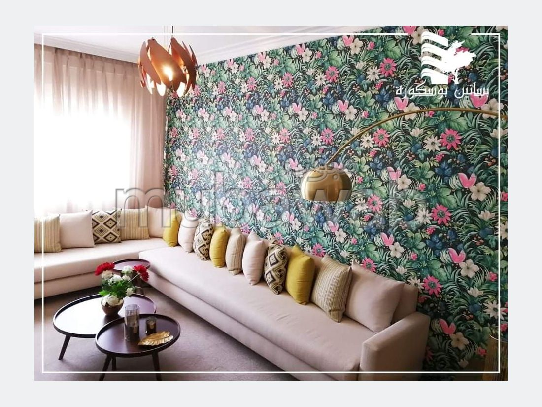 شقة جميلة للبيع ببوسكورة. المساحة الإجمالية 60.0 م². شرفة جميلة وحديقة.
