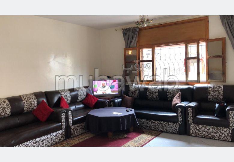 Location saisonnière à Rabat. Surface de 90.0 m². Meublé
