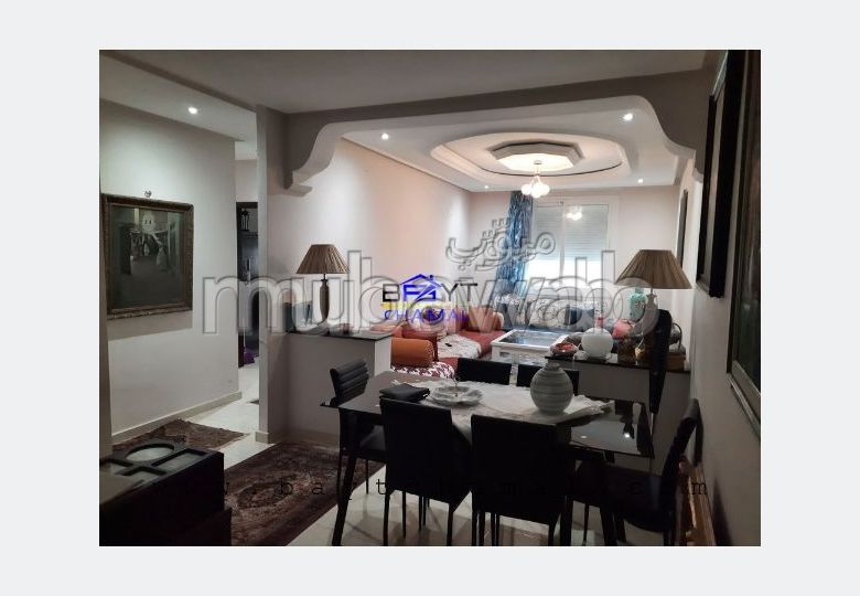 شقة رائعة للبيع بطنجة. 2 غرف ممتازة. موقف سيارات ومصعد.