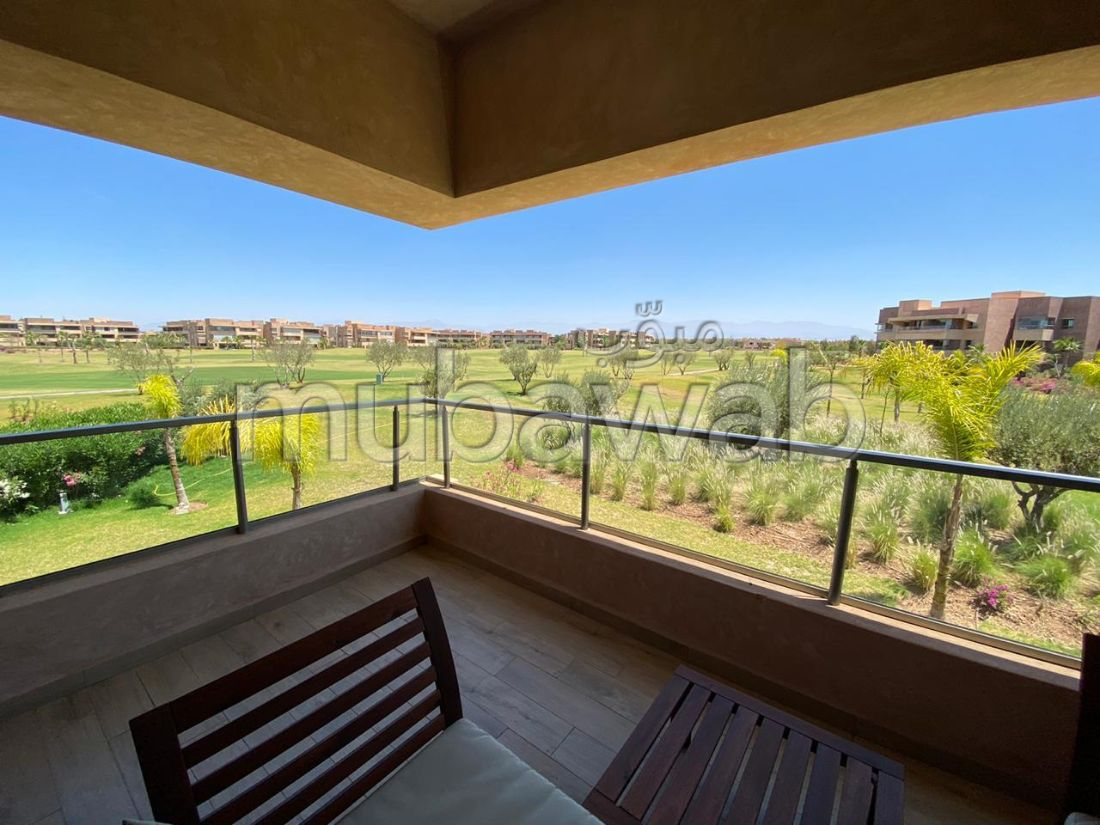 Very nice apartment for rent in Guéliz. 2 Hall. Air conditioning and swimming pool.