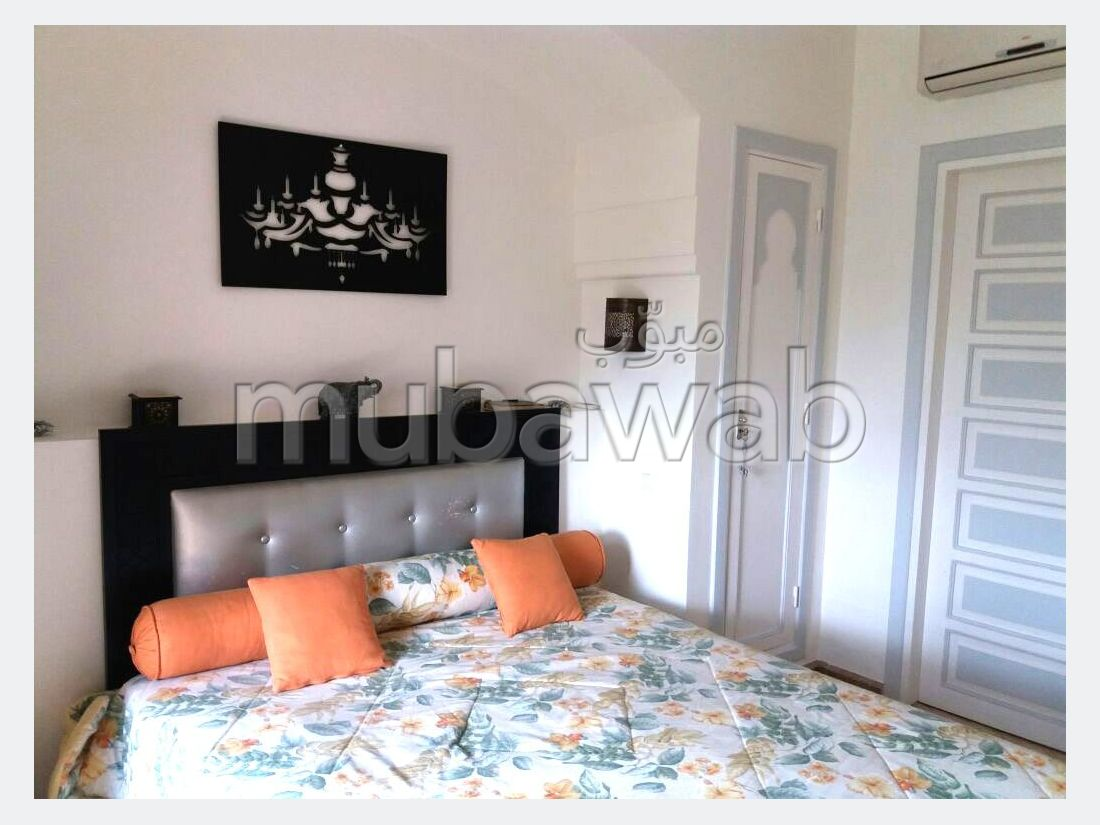 Find an apartment for rent in Agdal. 2 Small bedroom. Fully furnished.