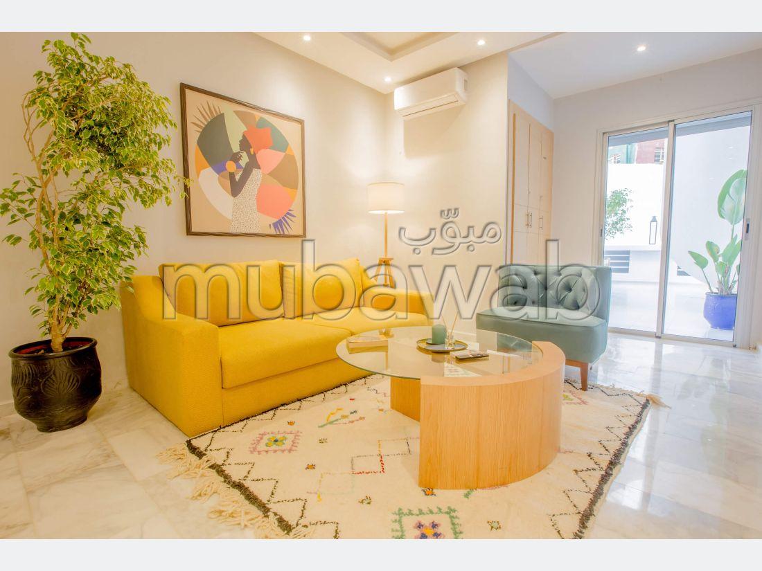 Appartement Modern avec jardin à Agdal + Garage