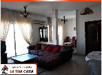 Find an apartment to buy in Sousse Corniche. Dimension 137 m². Exceptional sea view, central heating.