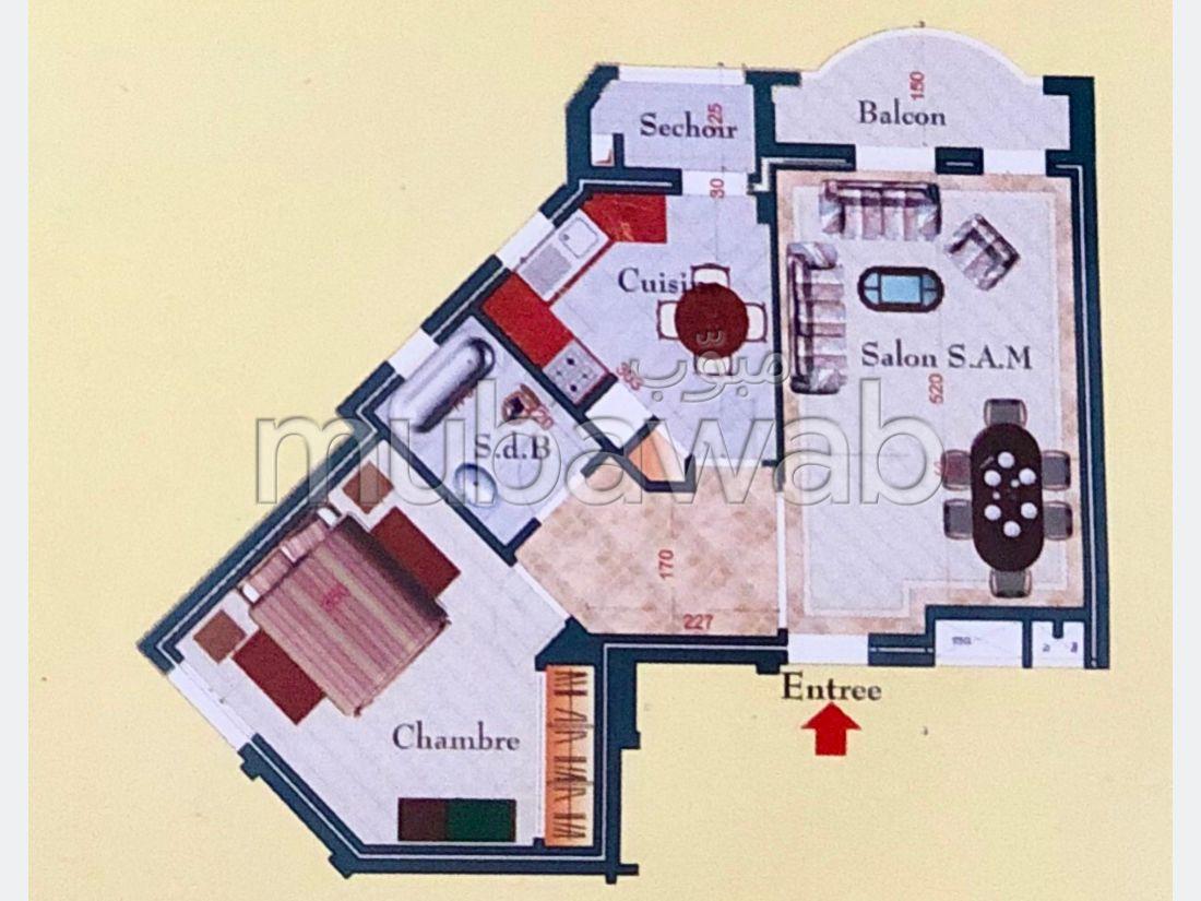 Bel appartement à vendre. Surface totale 75 m². Ascenseur et terrasse