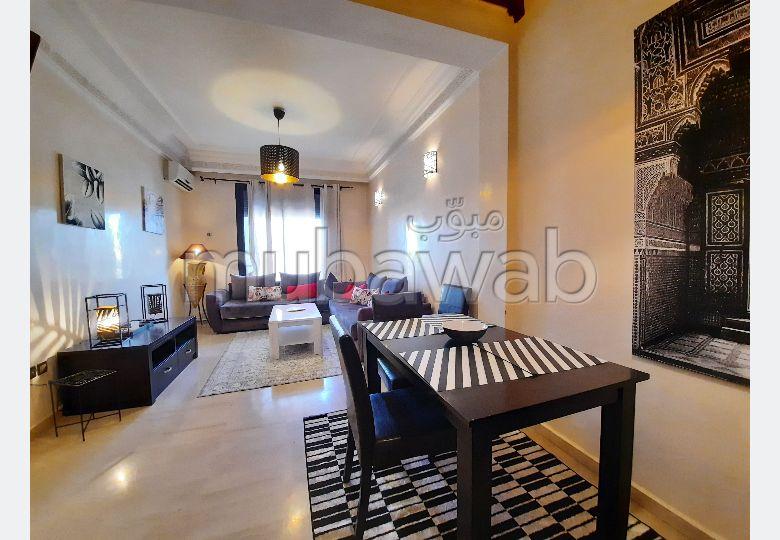Très bel appartement en location à Marrakech. 2 chambres. Bien meublé