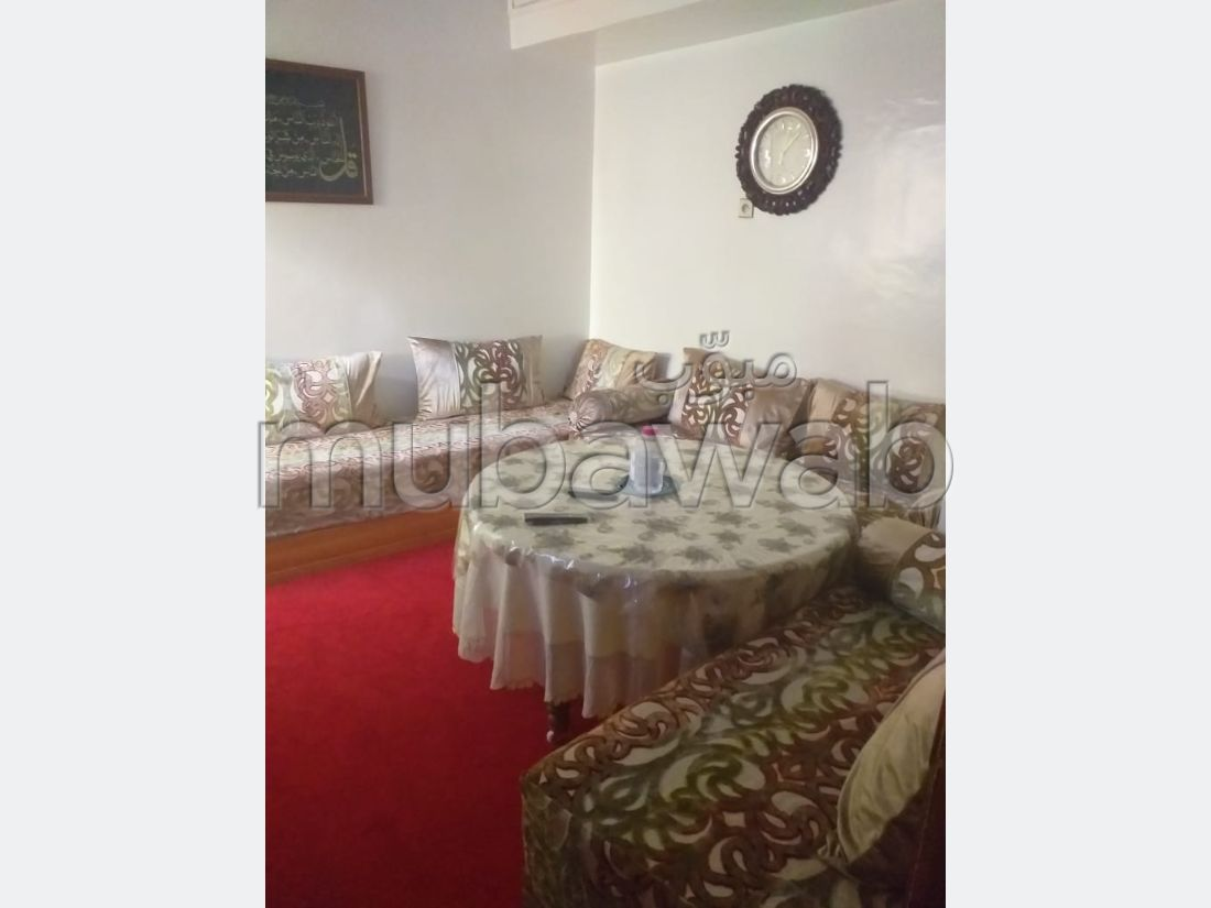 Find an apartment to buy in Maamora. Small area 75 m². Satellite dish system and secured residence.