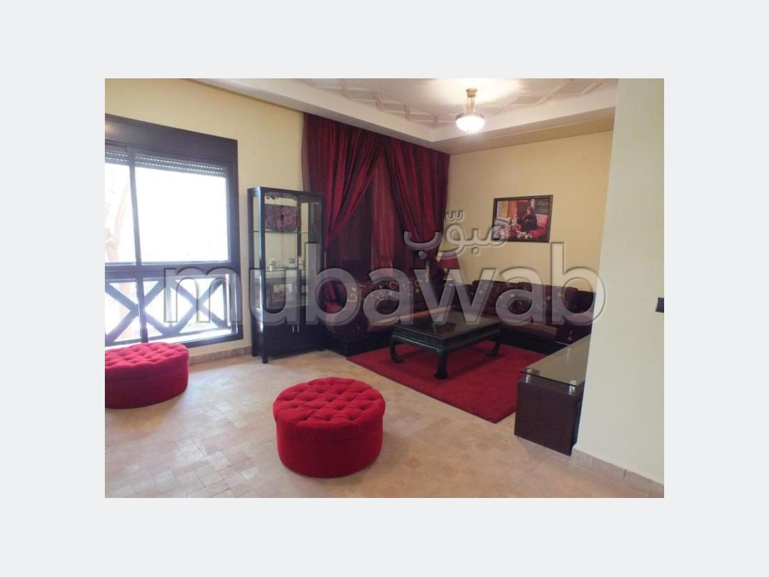 Great apartment for rent in Ennakhil (Palmeraie). 3 Cabinet. Residence with caretaker, Large swimming pool.
