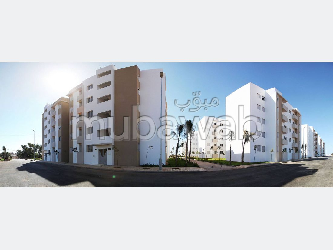 Apartment to purchase in Hay Oued Dahab. Surface area 50 m². Traditional living room, Secured residence.