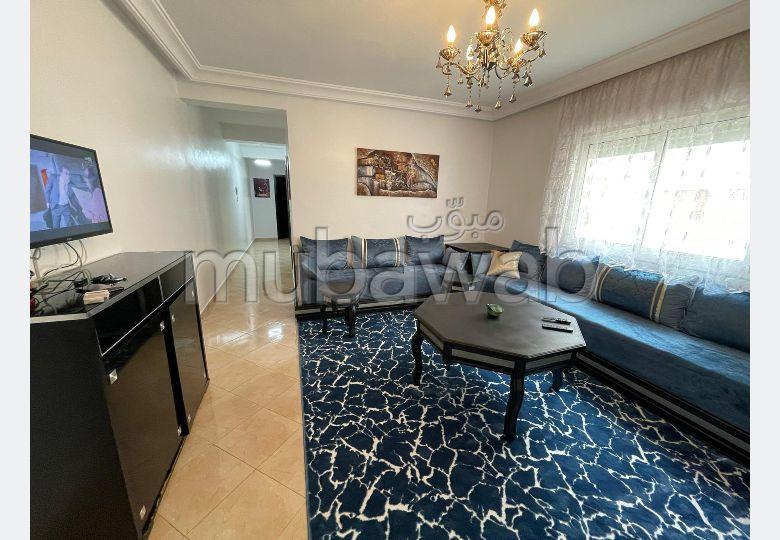 شقة رائعة للايجار ب طنجة البالية. المساحة 60 م². مفروشة.