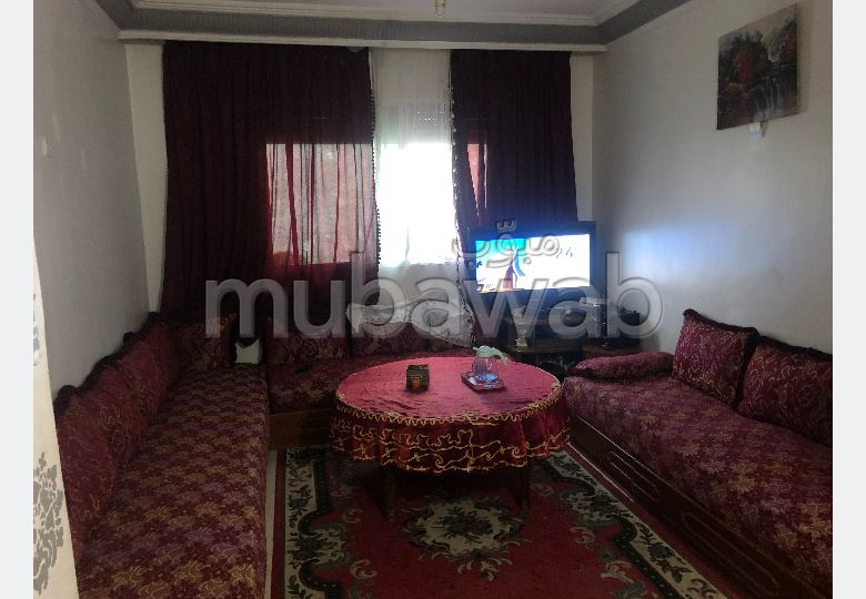 Appartement à louer à Boukhalef. Surface totale 60 m². Meublé.