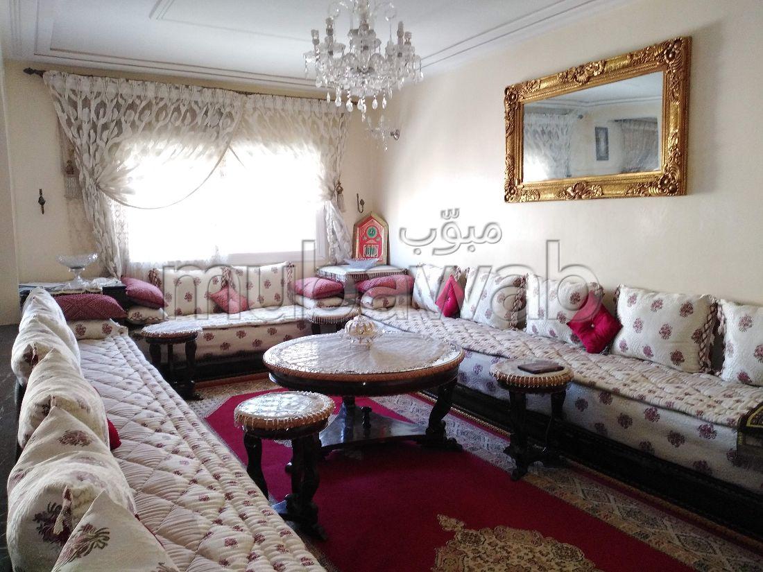 شقة رائعة للبيع ب نرجس. المساحة الإجمالية 127 م². صالة تقليدية ونظام طبق الأقمار الصناعية.
