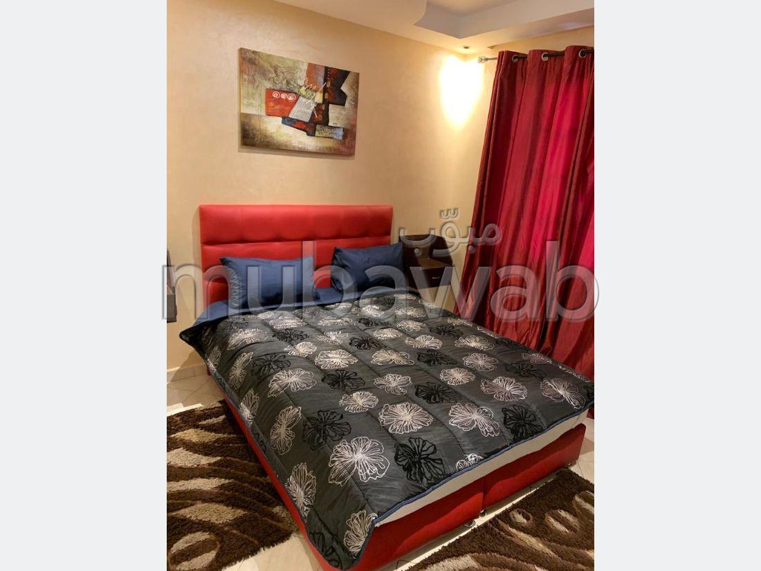 Très bel appartement en location à gueliz Marrakech. 2 chambres salon. Bien meublé