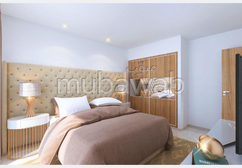 شقة للبيع ب عين زغوان الشمالية. 1 غرفة. المرآب والشرفة.