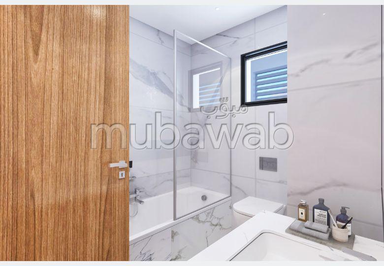 شقة جميلة للبيع ب عين زغوان الشمالية. 2 غرف ممتازة. نوافذ زجاجية مزدوجة ومدفئة مركزية.