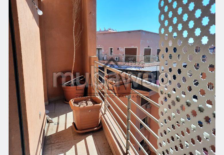 Studio dernier etage residence piscine marrakech