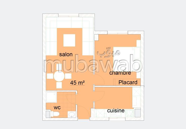 Studio de 45m² en vente, Résidence Panama