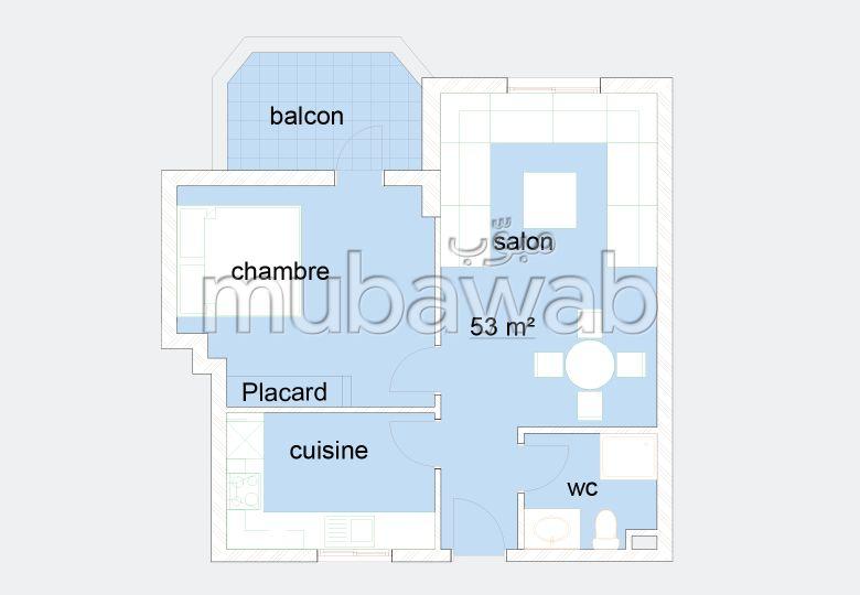 Se vende piso en Tanger City Center. 1 dormitorio.