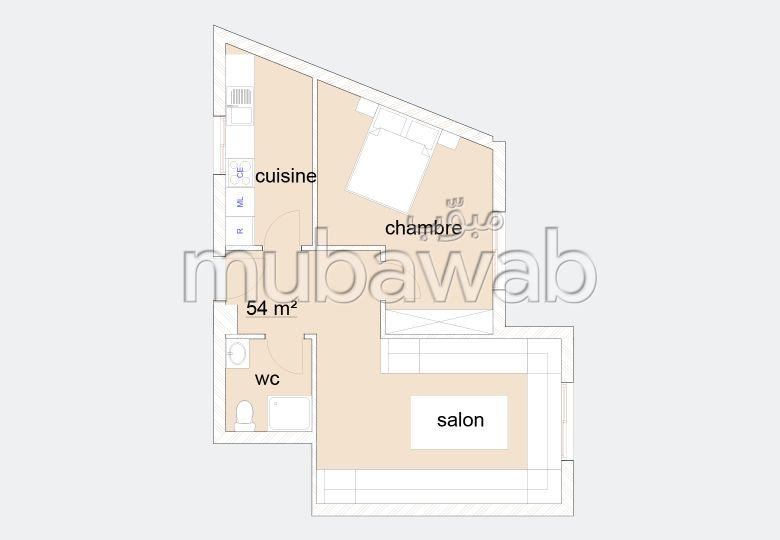 Apartment for sale in Tanger City Center. 1 lovely room.