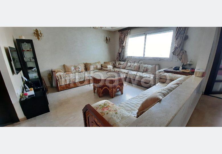 Superbe appartement à vendre à Casablanca. Surface de 115 m². Avec ascenseur et terrasse