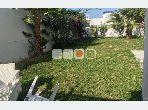 A louer duplex meublé s2 avec jardin à Gammarth