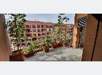 Rent an apartment in Guéliz. Surface area 110 m². Fully furnished.