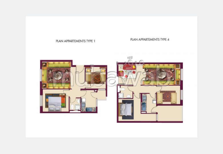 Apartment to purchase in Boukhalef. 2 Master bedroom.