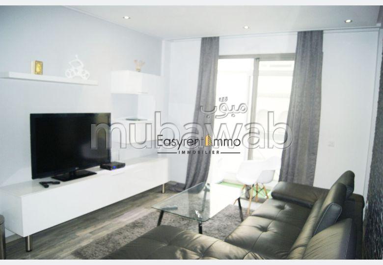 Appartement de vacances à louer à Maârif. Surface totale 61 m². Meublé.