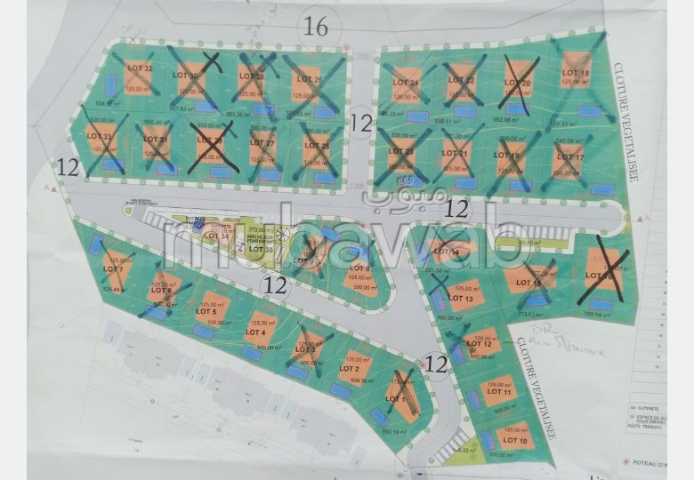 Land for sale in Jbel Kbir. Total area 500 m².