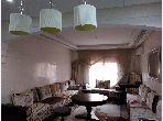 Sell apartment in Amerchich. Small area 92 m². Secured door, furnished Moroccan living room.