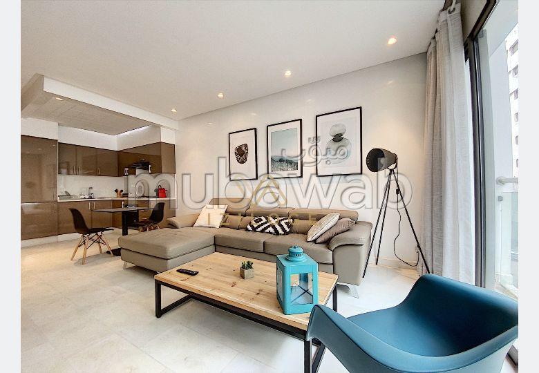 شقة جميلة للكراء براسين. المساحة الإجمالية 55 م². مفروشة.
