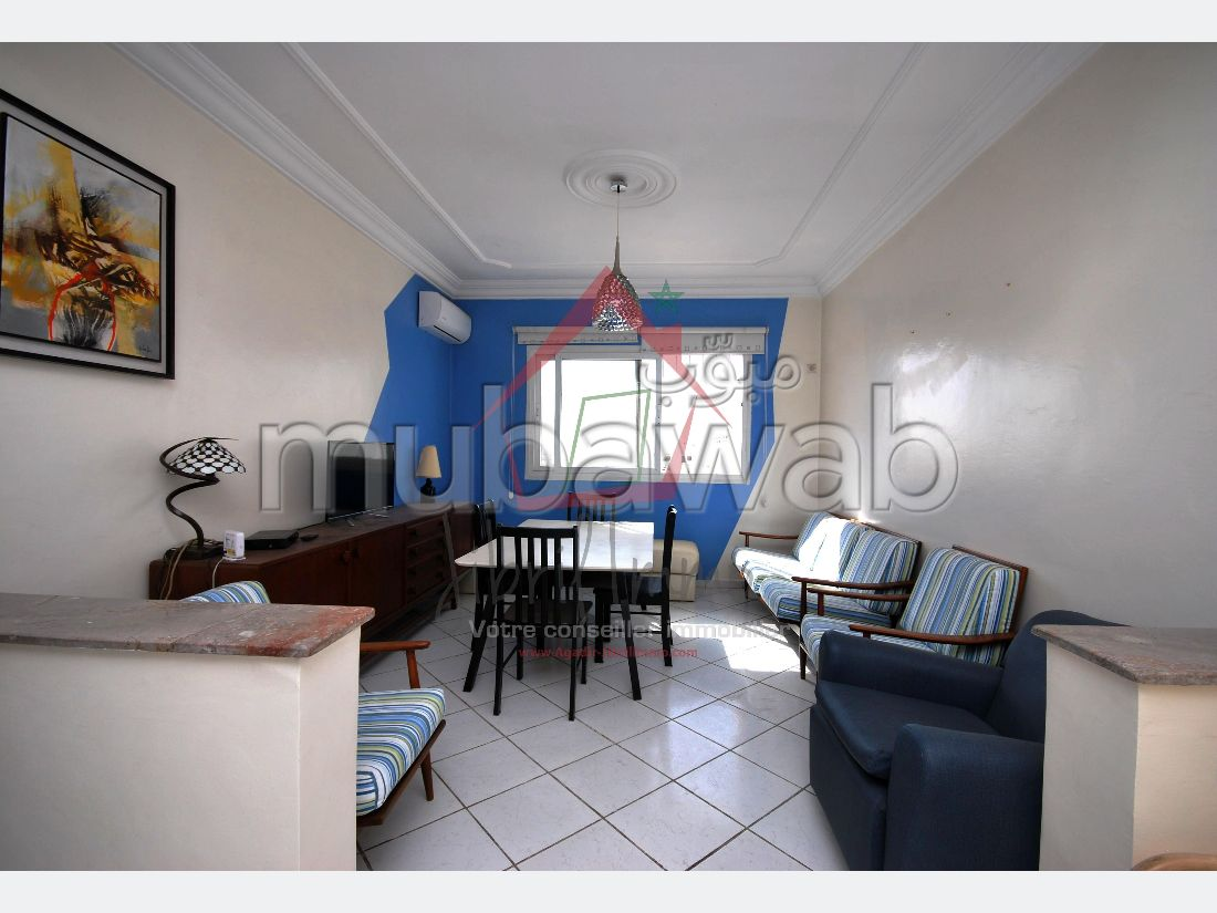 Apartment for rent in Riad Salam. Large area 85 m². No Lift, Large terrace.
