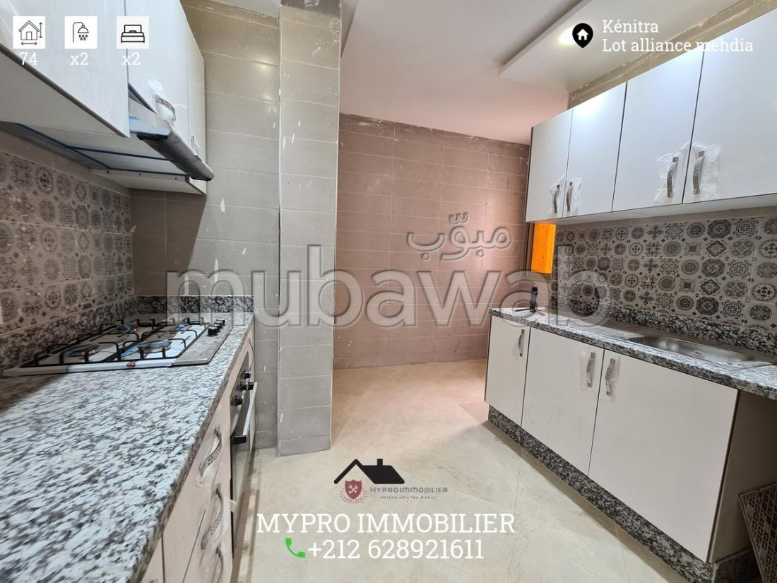Fabulous apartment for sale. Area 74 m². Equipped kitchen.