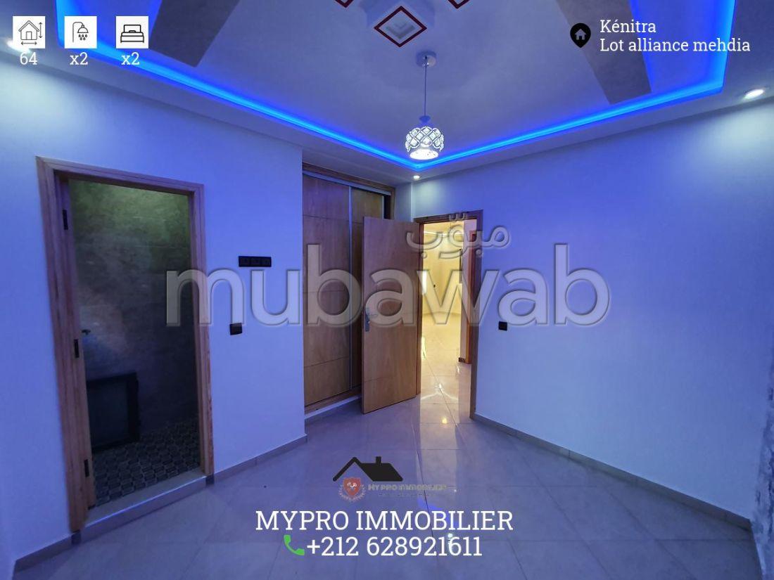 شقة للشراء بالمهدية. المساحة 64 م². مطبخ مجهز.