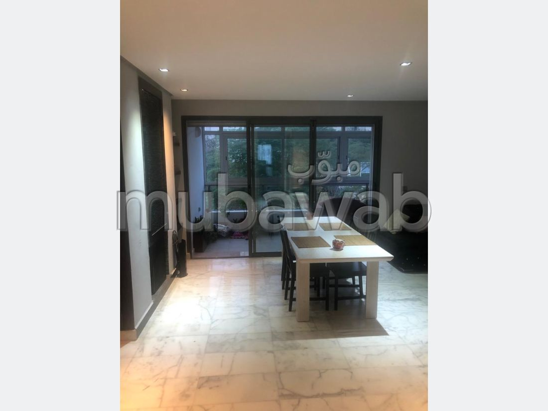 Appartement 2ch meublé à louer à Prestigia Bouskoura. Surface de 140 m²