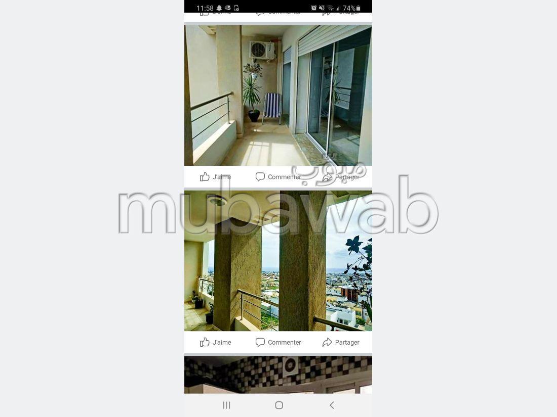 Superbe appartement à vendre. 3 chambres. Système de parabole et salon marocain