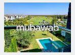 À louer un beau appartement duplex front golf meublé 3ch sur la Palmeraie Resort Bouskoura