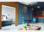 Apartment for rent in Maârif Extension. 1 room. Attic.