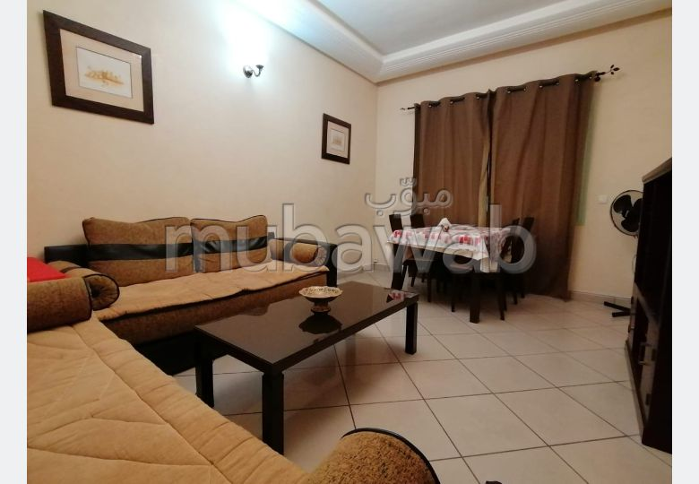 Find an apartment for rent in Guéliz. Area 75 m². Furnished.