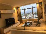 شقة رائعة للإيجار بحـي الشاطئ. المساحة الإجمالية 80 م². مفروشة.